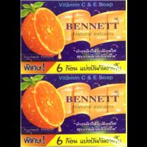 เบนเนท สบู่วิตามินอีซีแอนด์อี6ก้อน (แพ็ก4)