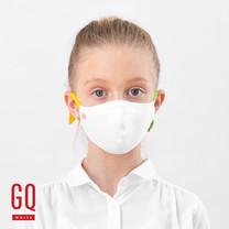 GQ หน้ากากผ้าเด็กหูสีเหลือง-เขียว