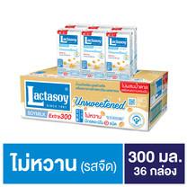 แลคตาซอย รสจืด นมถั่วเหลืองUHT 300มิลลิลิตร (ขายยกลัง 36 กล่อง)