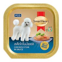 อาหารสุนัขเปียกสมาร์ทฮาร์ทโกลด์ รสสเต็กไก่ 100กรัม