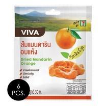 วีว่า ส้มแมนดารินอบแห้ง 30 กรัม แพ็ก 6 ชิ้น