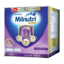นมผงมิลนิวทริ ชัวร์ รสจืด 1800 กรัม