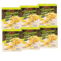 แน็คเก็ต กล้วยกรอบแผ่นบาง 33กรัม(แพ็ก6)