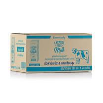 เอสเซ็นเชียลลี่ฟรีแลคโตส นม UHT พร่องมันเนย 180 มิลลิลิตร (ขายยกลัง 24 กล่อง)