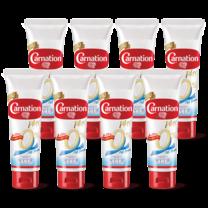 นมข้นหวานหลอดไขมัน0% น้ำตาลน้อยคาร์เนชัน180กรัม (แพ็ก8)