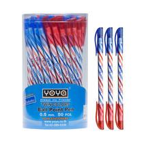 YOYA 1060 ปากกาลูกลื่น2หัวนง+แดง 0.5 มม. 1 กล่อง 50 ด้าม