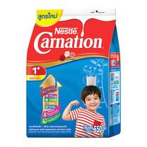 นมผงคาร์เนชั่น1+สูตร3 รสน้ำผึ้ง 550กรัม