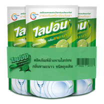 ไลปอนน้ำยาล้างจานชามะนาว 500 มิลลิลิตร (แพีก3)