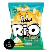 ริโอ้ ขนมอบกรอบรสซาวครีมเชดด้าร์ชีส 35 กรัม แพ็ก 6 ชิ้น