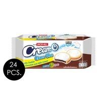 ครีมโอ คุกกี้ช็อกโกพลัส ช็อกโกแลตและนม 90 กรัม (ยกลัง 24 ชิ้น)