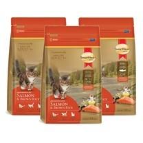 อาหารแมวสมาร์ทฮาร์ทโกลด์แซลมอน&บราวน์ไรซ์ 300g. (1แพ็ก 3ถุง)