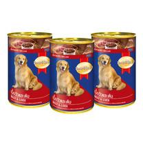 สมาร์ทฮาร์ทอาหารสุนัขกระป๋อง เนื้อวัว&ตับ 400 ก. (แพ็ก3)