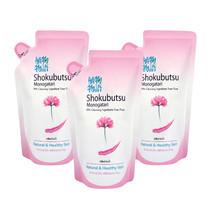 โชกุบุสซึครีมอาบน้ำ สีชมพู ถุงเติม 200 มิลลิลิตร แพ็ก3