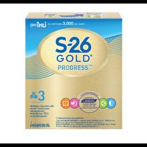 นมผงเอส26 โปรเกรสโกลด์ สูตร 3 600ก.
