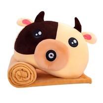 หมอนผ้าห่มตุ๊กตานุ่มนิ่ม ลายวัว