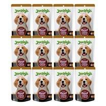 อาหารสุนัขเปียกเจอร์ไฮ เนื้อวัวและแครอท 120ก. (1แพ็ก 12 ซอง)