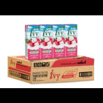 ไอวี่ นมเปรี้ยวUHT รสลิ้นจี่ 180 มล. (ยกลัง 48 กล่อง)