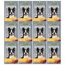 ขนมสุนัขเจอร์ไฮ ดูโอ้ สติ๊ก ไก่และชีส 50ก. (1แพ็ก 12 ชิ้น)