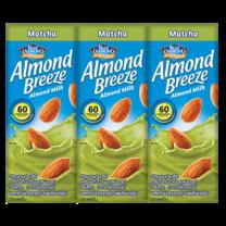 บรีซ นมอัลมอนด์UHT ชาเขียว 180 มิลลิลิตร แพ็ก 3