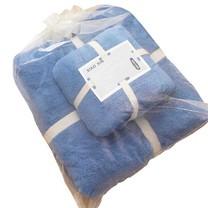 ชุดของขวัญ ผ้าขนหนู Set B สีน้ำเงิน