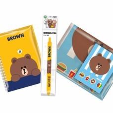 Line Friends ชุดเครื่องเขียน Set B4 Brown