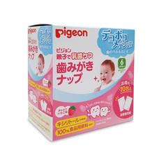 Pigeon ผ้าเช็ดฟันเด็กทารกสตอเบอรี่ 70 ชิ้น