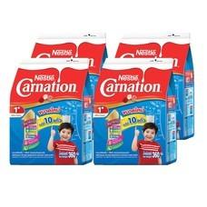 เนสท์เล่คาร์เนชั่นสมาร์ทโกวันพลัส นมผงสูตร 3 กลิ่นวานิลลา สำหรับเด็กอายุ 1 ปีขึ้นไป 360 กรัม  (แพ็ก 6)