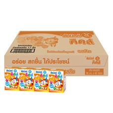 ดัชมิลค์คิดส์ นมเปรี้ยวUHT รสส้ม 90 มิลลิลิตร (ขายยกลัง 48กล่อง)