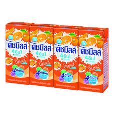 ดัชมิลค์ นมเปรี้ยวUHT กลิ่นส้ม 180 มิลลิลิตร แพ็ก4