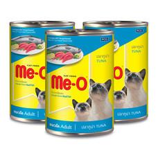 มีโออาหารแมวเปียก มีโอรสทูน่ากระป๋อง 400 กรัม 1แพ็ก (3กระป๋อง)