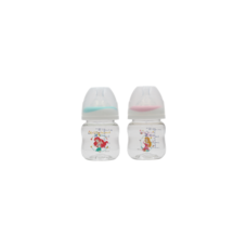 เพียวรีนขวดนมไทรตันปริ้นเซส คอกว้าง 4oz.x2-สี (ชมพู+ฟ้า)