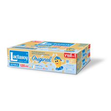 แลคตาซอย รสหวาน นมถั่วเหลืองUHT 125มิลลิลิตร (ขายยกลัง 60 กล่อง)