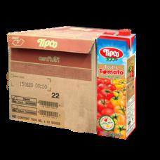 ทิปโก้ ดับเบิ้ล โทเมโท น้ำมะเขือเทศ 100% 1000 มล. (ยกลัง 12 กล่อง)