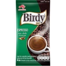 เบอร์ดี้ กาแฟสำเร็จรูปชนิดผง เอสเปรสโซ่ แพ็ค 4 ซอง