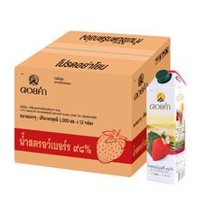 ดอยคำ น้ำสตรอว์เบอร์รี่ ๙๘% 1000 มล. (ยกลัง 12 กล่อง)