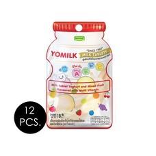 โรสเซล่า นมอัดเม็ดโยมิลค์รสโยเกิร์ต 18 กรัม (แพ็ก 12 ชิ้น)
