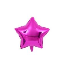 ลูกโป่งฟรอยลายดาวขนาด 45 ซม.สีชมพู
