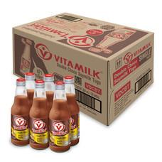 ไวตามิลค์ดับเบิ้ลช็อกโกขวด นมถั่วเหลือง 300มิลลิลิตร (ขายยกลัง 24 ขวด)