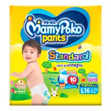 กางเกงผ้าอ้อมเด็กมามี่โพโค แพ้นท์ สแตนดาร์ด ไซส์ L 16 ชิ้น