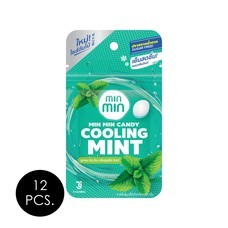 มินมิน ลูกอมกลิ่นคูลลิ่งมินต์ 14 กรัม แพ็ก 12 ชื้น
