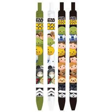 ปากกาเจลลูกลื่นน้ำเงิน 0.7 mm.Tsum Tsum Star Wars คละแบบ 1 แพ็ก 4 ชิ้น
