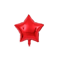 ลูกโป่งฟรอยลายดาวขนาด 45 ซม.สีแดง