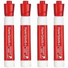 ปากกาไวท์บอร์ดหัวกลมสีแดง NW แพ็ก4