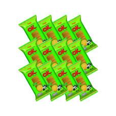 โอเค บิสกิตแผ่นบาง รสสาหร่าย 60 กรัม(แพ็ก12)
