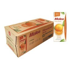 มาลี น้ำส้มแมนดาริน 100% 200 มิลลิลิตร (ขายยกลัง 24 กล่อง)
