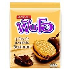 แซนวิชคุกกี้ฟันโอ ครีมช็อคโกแลต 40กรัม  แพ็ก 12 ห่อ
