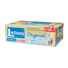 แลคตาซอย นมถั่วเหลืองUHT 300มิลลิลิตร (ขายยกลัง 36 กล่อง)