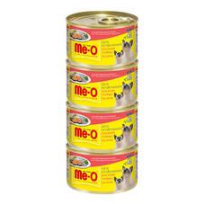 มีโอ อาหารแมวเปียกรสปลาทูหน้าปลาแซลมอน กระป๋อง 80 ก. (แพ็ก4)