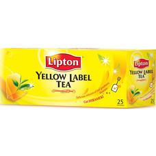 ลิปตันชาผงชนิดซองฉลากสีเหลือง แพ็ค 25 ซอง