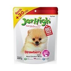 ขนมสุนัขเจอร์ไฮ สติ๊ก รสสตรอว์เบอร์รี่ 420ก.